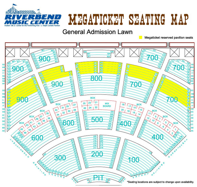 Riverbend music center 2013 country megaticket